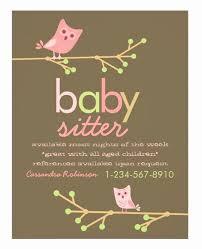 Babysitting Flyer Template Free Babysitting Flyer Template Wilkesworks