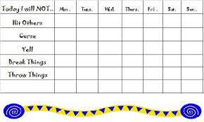 Behavioral Chart For Home Positive Discipline Chart