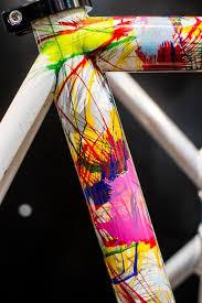 a dario pegoretti hand painted road bike frame