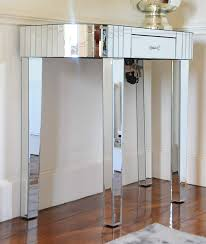 Konsolentisch Schminktisch Art Déco Stil Verspiegelt Silberrand