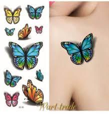 3d Tetování Motýl D30