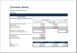 Reconciliation Template Ms Excel Equity Reconciliation Report Template Excel Templates
