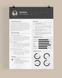 Free Template Resume Custom Template Resume Free 48 Beautiful Templates To Download Cv Pinterest