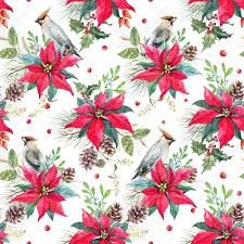 Poinsettia Pattern Cool Decoration