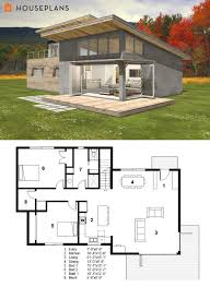 modern house plans. Perfect Plans Small Modern Cabin House Plan By FreeGreen In House Plans