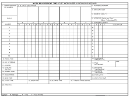 Time Study Excel Templates Time Study Template Excel Standard Operating Procedure Flow