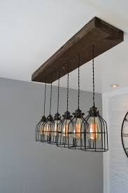 wood beams beautiful kitchen industrial lighting ideas over