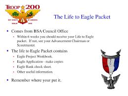 Eagle Scout Project Sign In Sheet Ppt The Trail To Eagle Powerpoint Presentation Id 5355918