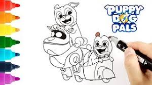 Puppy Dog Pals Coloring Page Bob Bingo And Rolly T