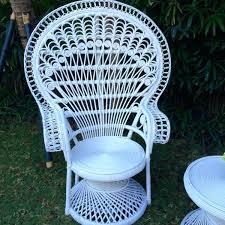 rattan pea chair white pea chair white round rattan table event furniture al party hire random rattan pea chair