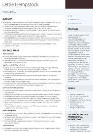 paralegal cv example paralegal resume examples