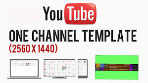 Youtube Template Psd Youtube Cover Art Template Psd 2560 X 1440 Photoshop Gimp
