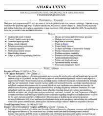 Registered Nurse Resume Example Adorable Best Registered Nurse Resume Example LiveCareer Resume Samples
