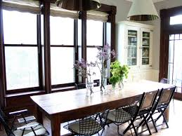 farmhouse kitchen table and chairs for your home with hanging lamps