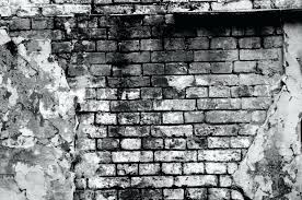 black and white brick wall old brick wall forming a frame in black and white stock