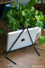 diy metal tablet stand perfect for ipad kindle samsung galaxy or nook