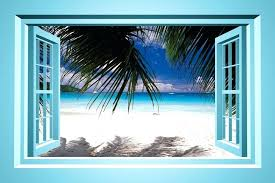 fake window decal paradise faux window wall decal fake stained glass window decals