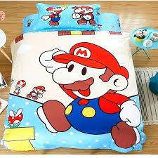 super mario bedding full size free children cartoon super bros bedding set including flat sheet
