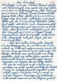 Handschriftlicher Lebenslauf Lebenslauf