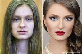 russian makeup tranformation