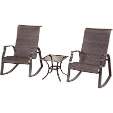 courtyard creations mayfair 3 pc wicker rocker set