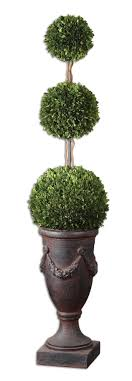 Preserved Boxwood Triple Topiary