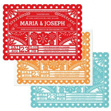 mexican wedding invitations. scalloped papel picado wedding invitation collection mexican invitations