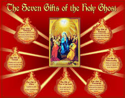 the seven gifts of the holy spirit wisdom understanding right judgement courage knowledge piety reverence fear of the lord wonder and awe in s