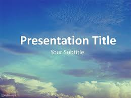 Free Sky Powerpoint Template Download Free Powerpoint Ppt