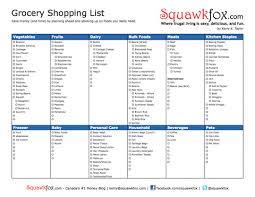 Shopping - Squawkfox Printable Grocery List