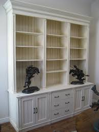 For Bookcases In Living Rooms Furniture Refined Distressed Bookcase And White Hand Painted