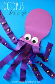 sea animal paper octopus kids craft