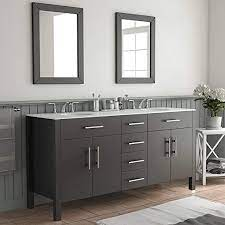 Amazon Com 72 Inch Espresso Double Basin Sink Bathroom Vanity Set Warren Home Kitchen