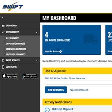 swift freight tracker