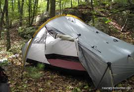 tents with side vestibules let you gear out of the weather at night without having
