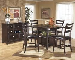 Ashley Furniture Kitchen Chairs Ridgley Dark Brown 6 Pc Counter Height Dining Table Barstools And