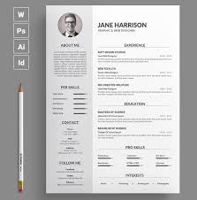 Best Of 40 Stylish Professional CV Resume Templates Cool Professional Resume Design