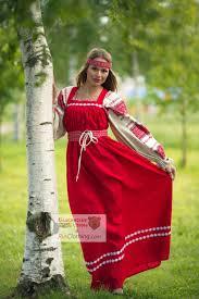 Russische SARAFAN Kleid Tracht slawischen Kleid Boho