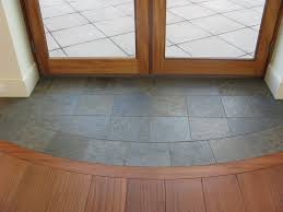 slate entryway to protect hardwood floors at french door for when i finally rip all the tile and carpet out and do hardwood