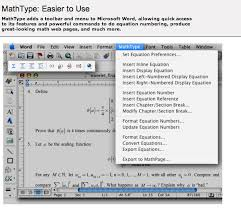 mathtype toolbar and in microsoft word