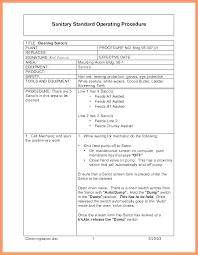 standard operating procedures template word procedure template microsoft word dealbrothers co
