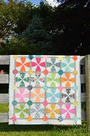 493 best Modern Quilts images on Pinterest   Book, Curves and Indie & Whimsy Garden quilt, pattern by color girl quilts. Modern curved piecing  with colorful fabrics Adamdwight.com