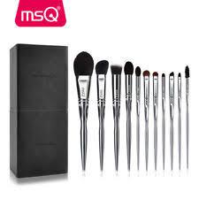 msq 11pcs makeup brush set powder foundation cosmetic tool natural hair copper