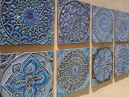Decorative Tiles To Hang Ceramic tiles Bathroom tiles Decorative tiles Handmade 2