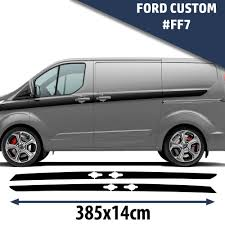Ford Custom Van Side Racing Stripes Decal Graphics /Tuning Car ...