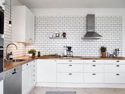 stylish black grout and tiling in white subway tile backsplash with regard to idea 15