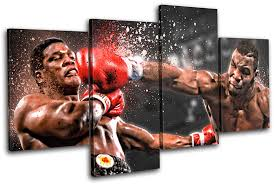 boxing mike tyson sports canvas wall