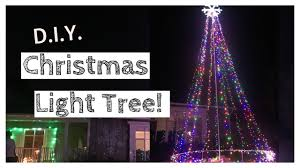 How To Make Outdoor Christmas Tree Out Of Lights D I Y Lighted Christmas Tree Giant Outdoor Christmas Light Tree