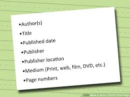 ways to write a works cited page   wikihow image titled write a works cited page step