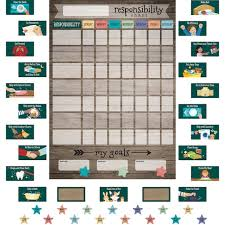 Teacher Created Resources Clingy Thingies Responsibility Chart Set 73ct